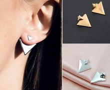 VAROLEV Vintage Geometric Triangle Stud Earrings for Women Punk Gold Silver Color Alloy Earrings Jewelry Accessories 2330