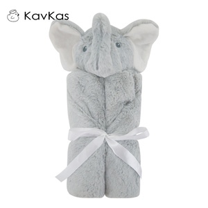 Image 5 - Kavkas Baby Blankets 76x76cm Baby Bedding Winter Birthday Gift Newborn Soft Warm Coral Fleece Plush Animal Educational Plush Toy