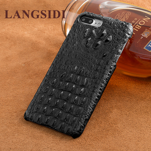 Image 2 - Wangcangli telefon case krokodyl tekstury tylna pokrywa dla iphone X etui na telefony komórkowe pokrywa pełnej obsługi klienta przetwarzanie