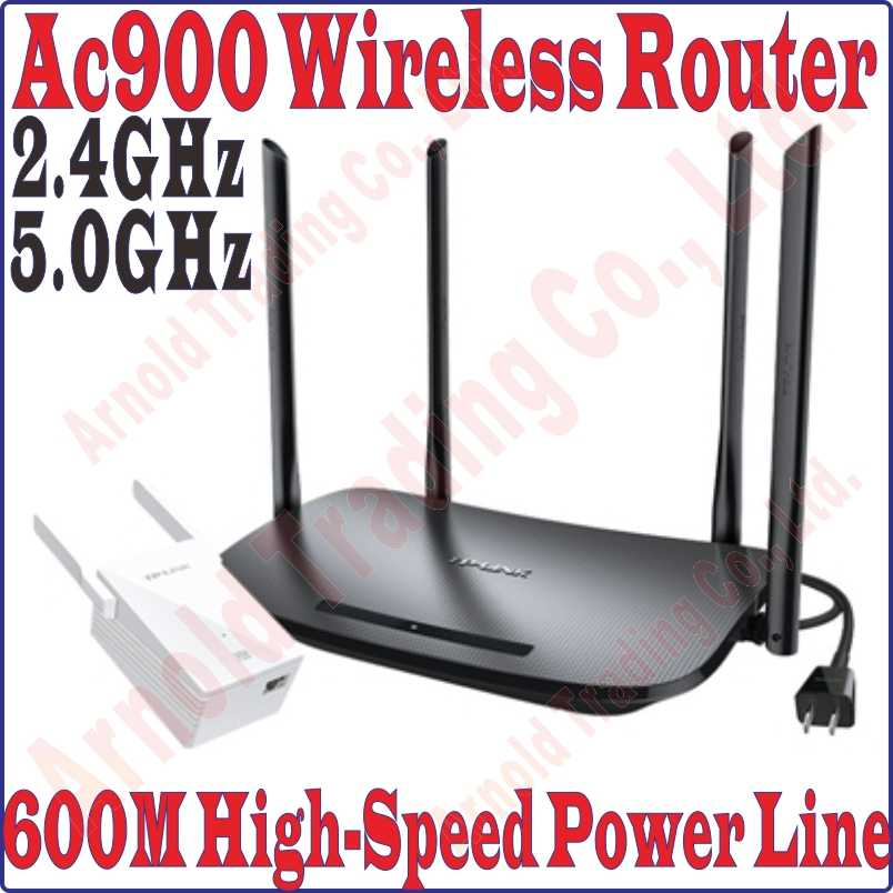 TPLink 2 4G 450Mbps 5G 433Mbps Main Wireless Router 600Mbps Power Line  Adapter + 300Mbps Wirless Extender WiFi Hotspot Powerline