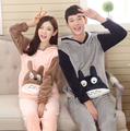 Warm Maternity clothes soft winter Mum and dady lover pajama sets pyjamas for pregnant  flannel coral fleece maternity sleepwear