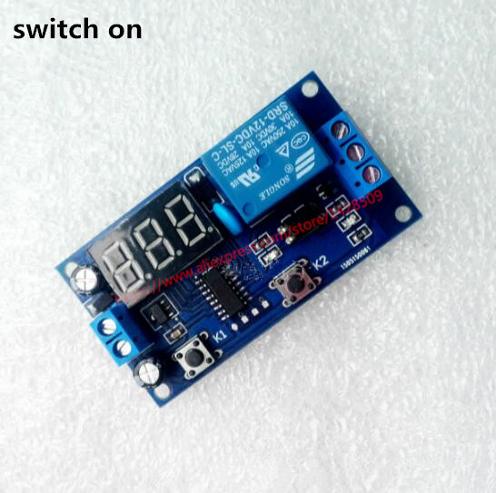 Delay Time Relay Module Timer relay 5v/ 12V LED Display Intelligent Control Time Relay/Delay for switching on 1pc multifunction self lock relay dc 5v plc cycle timer module delay time relay