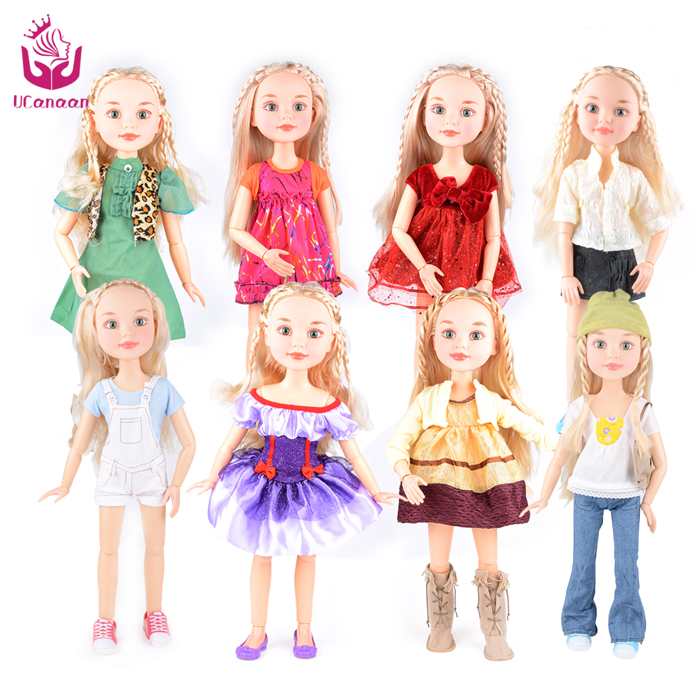 Change Style 2 Suit Outfit Fashion Sweet Dolls 18 45cm Princess Girl Doll Joint Body Christmas Birthday Gift As American Girl doll accessories american girl doll clothes christmas suit dress for 16 18 inch dolls girl gift x 8 drop shipping