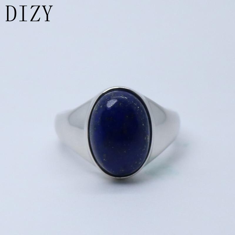 Dizy oval 10x15mm natural lapis lazul anel 925 prata esterlina anel de pedra preciosa para festa feminina diário romântico presente fino jewerly