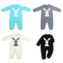Baby Rompers Set Newborn Rabbit Baby Jumpsuit Overall Long Sleevele Baby Boys Clothes Autumn Knitted Girls Baby Casual Clothes