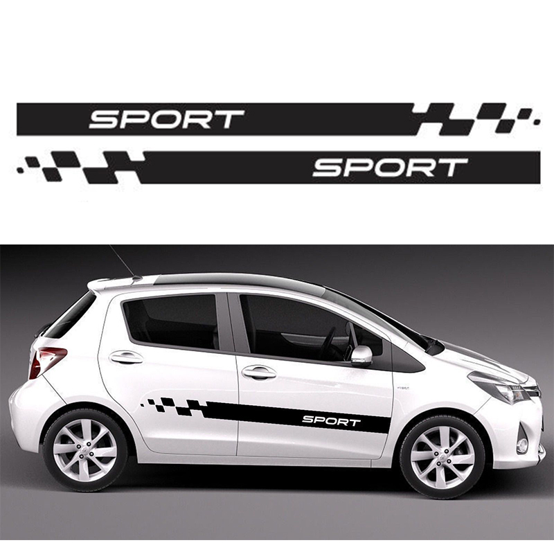 Automobile 2x For Toyota Yaris Side Body Decal Vinyl