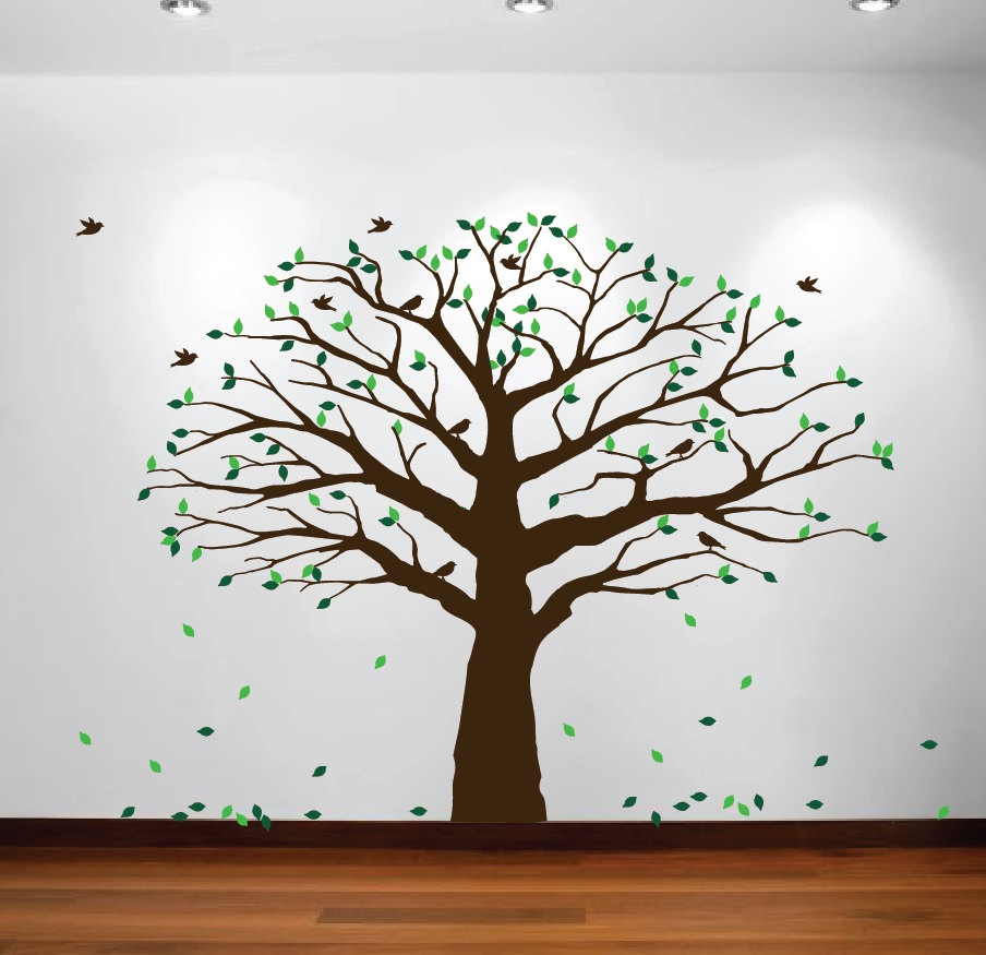 Large Wall Nursery Family Tree Decal Photo Branches