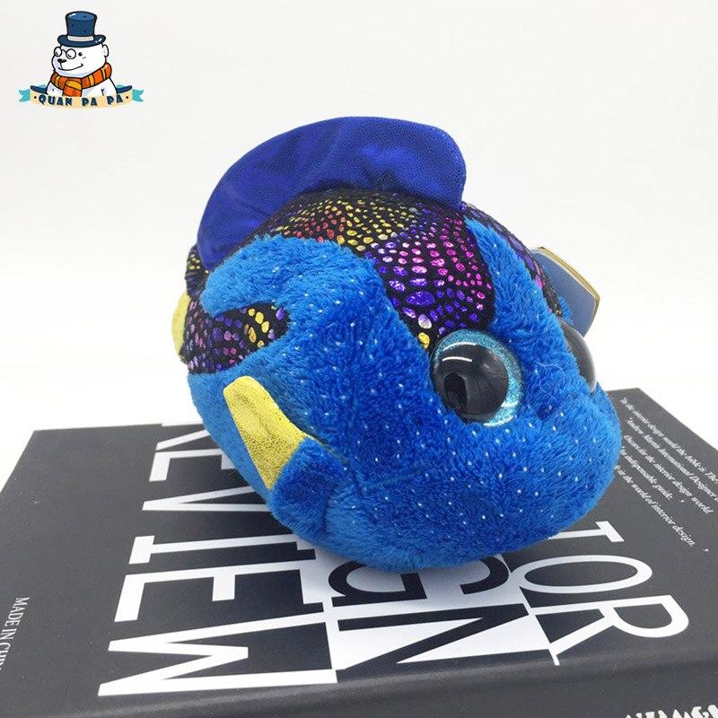 [Quanpapa] Новое 15 см хлопок Животные плюшевые игрушки рыбы кукла регулярное мягкие Животные Ty Beanie Боос плюшевые игрушки для ребенка
