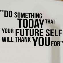Сделать что-то сегодня мотивационные цитаты Наклейка на стену виниловая наклейка в виде надписи фрески для спортзала домашний декор