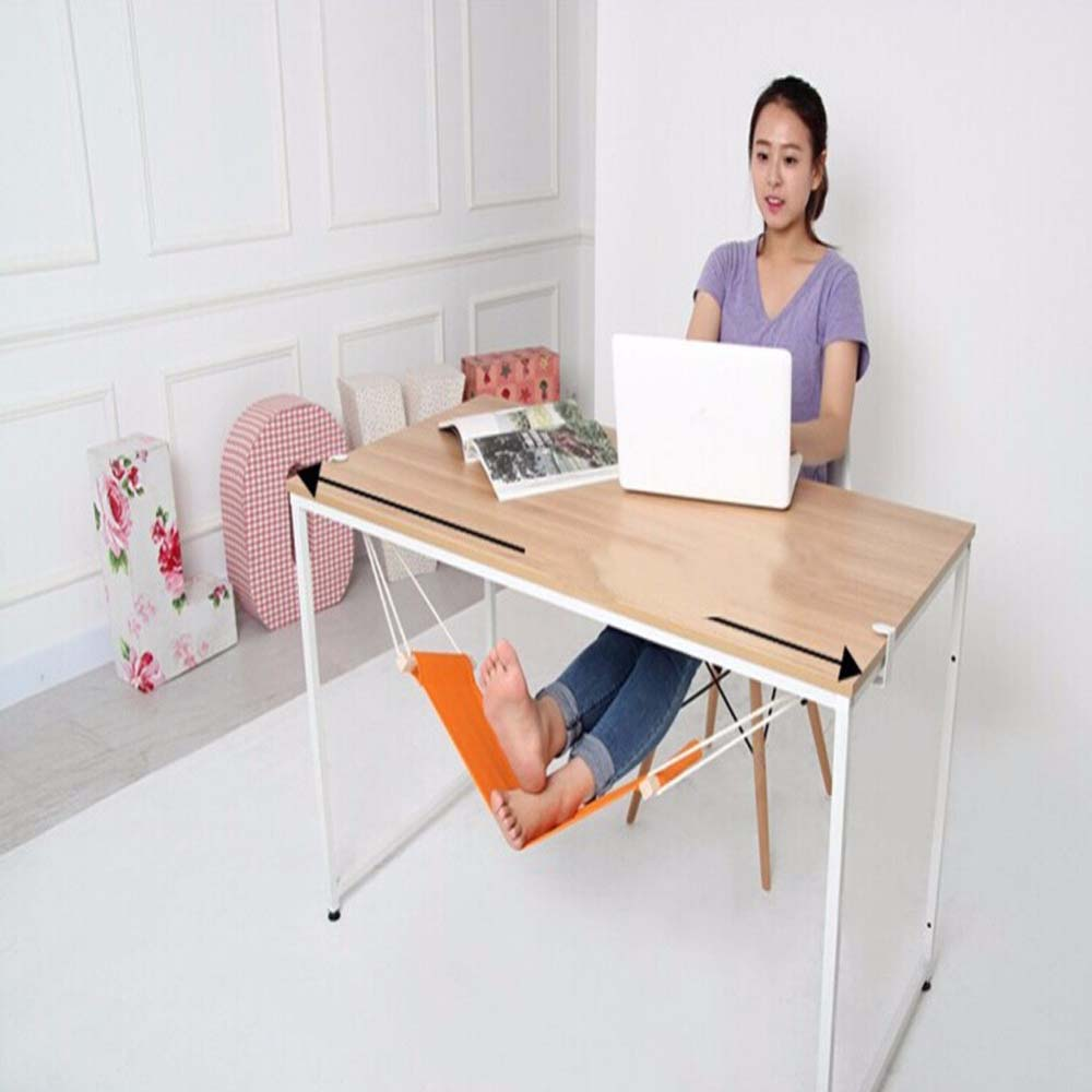 1 pc portable hammock mini office foot rest stand desk feet hammock easy to disassemble home outdoor comfortable hammock 60 16cm office foot rest stand desk feet hammock easy to disassemble study indoor orange