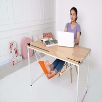 1 Pc Portable Mini Office Foot Rest Stand Desk Feet Hammock Easy To Disassemble Home Outdoor