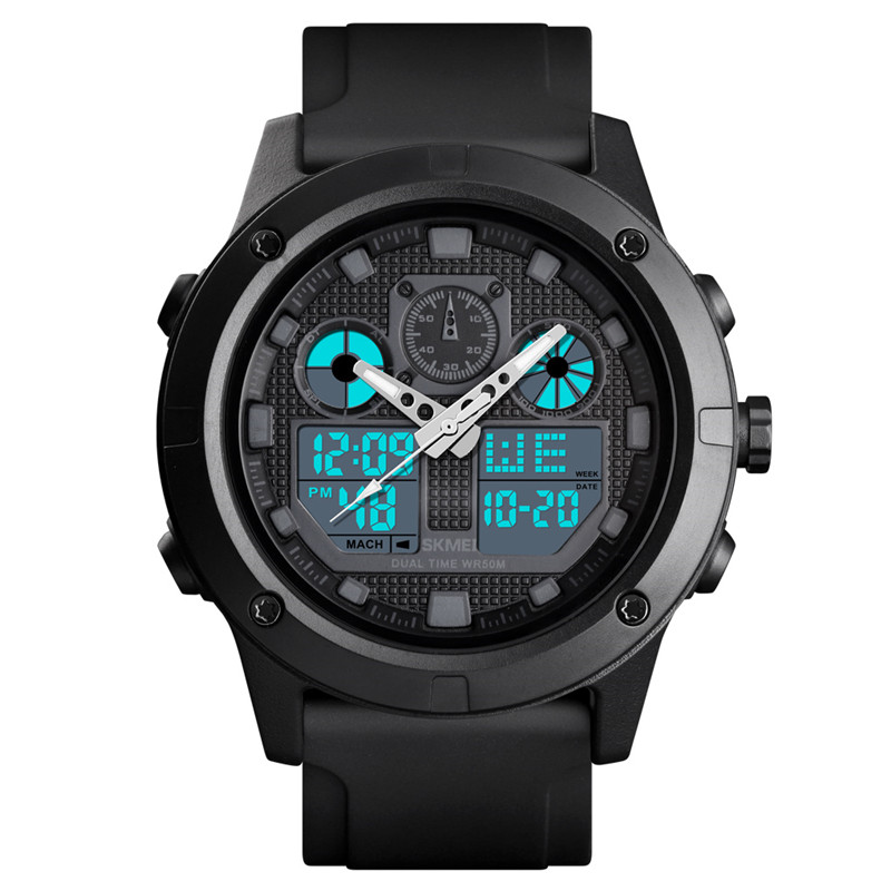 Time Secret college student watch fashion trend dual time alarm luminous waterproof sports mens digital wristwatches