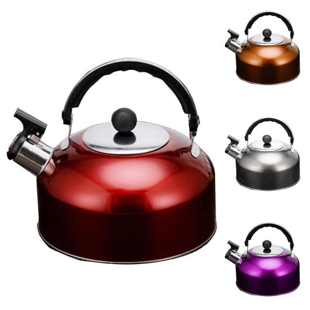 3L Cocina de Inducción gruesa Acero inoxidable Hervidor eléctrico Base plana Anti-escaldo antideslizante silbador hervidor accesorios de cocina