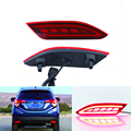 2x red levou choques refletor traseiro luz da cauda do freio de estacionamento luz de aviso para a honda hrv hr-v vezel 2015 2016