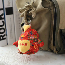 2017 New Chinese Style Chicken Mini Toys Bags Purse Pendant Cute Toy Key Chain Children s