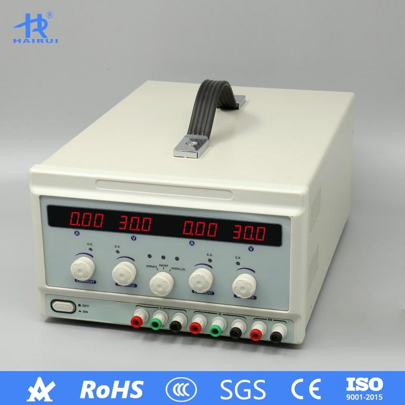 HAIRUI APS3005S-3D double DC alimentation laboratoire haute précision 110 V/220 V affichage numérique 30 V 5A alimentation régulée