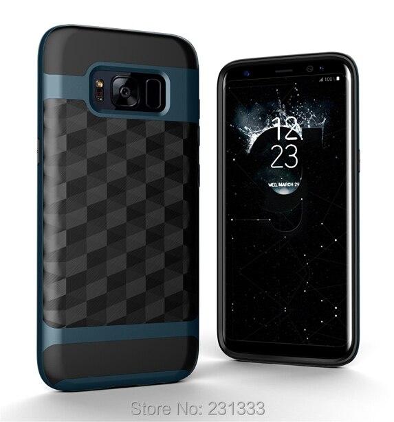 Для Samsung Galaxy Note 8 NOTE8 3D алмаз Гибридный ТПУ ПК Футляр Линг зеркало Панцири ударопрочный 2 в 1 кожного покрова моды 50 шт.