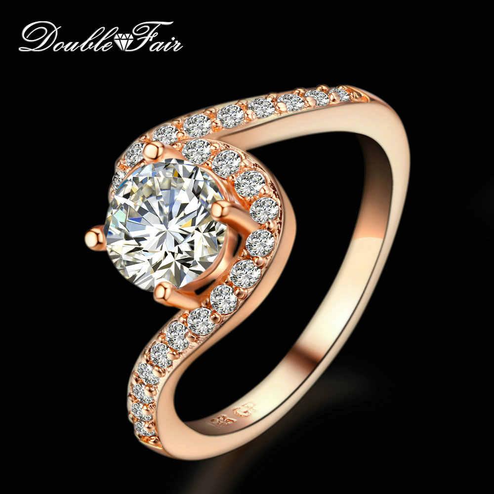 d02cae830795 Подробнее Обратная связь Вопросы о витой дизайн cz алмаз 18K розовое ...