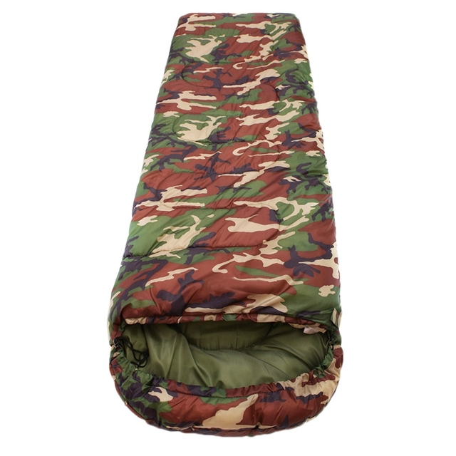 Outdoor Adult Cotton Camping Sleeping Bag Envelope Style Camouflage Warm Waterproof Travel Hooded Sleeping Bags 3