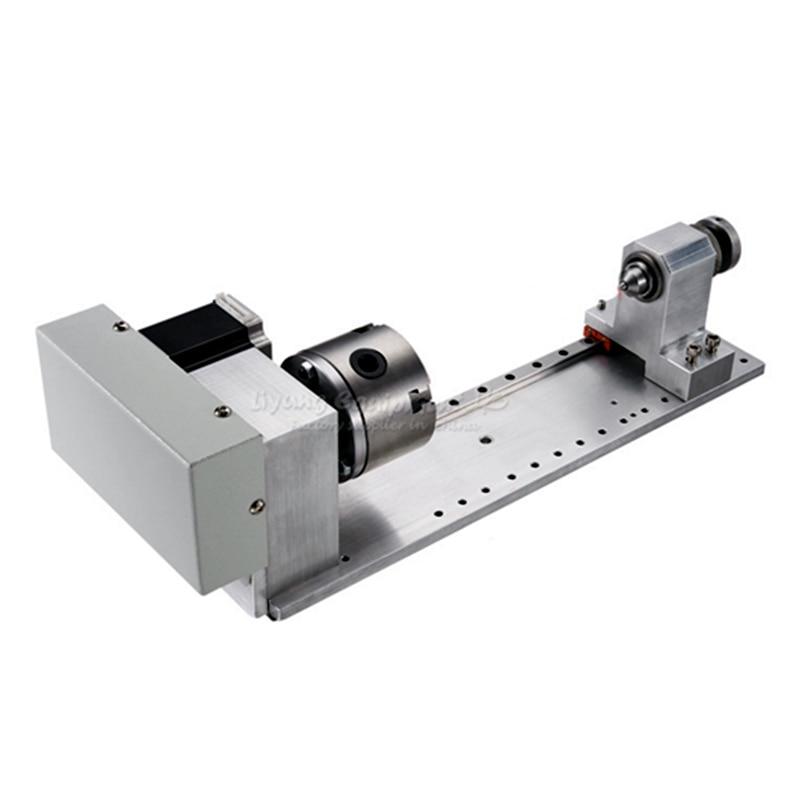 Engraving machine slide rail 4th axis rotation axis A axis CNC dividing head CNC 3d milling tools CA2017 cnc 5axis a aixs rotary axis t chuck type for cnc router cnc milling machine best quality