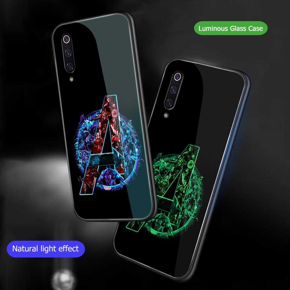 Image 5 - Ciciber Marvel Железный человек для Xiaomi mi 9 8 A2 6X mi X 2 2S PocoPhone F1 стеклянные чехлы для телефонов для Red mi Note 7 6 Pro Plus Cover Capa-in Подходящие чехлы from Мобильные телефоны и телекоммуникации