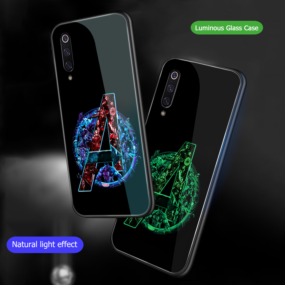 Image 5 - ciciber Marvel iron Man For Xiaomi MI 9 8 A2 6X MIX 2 2S PocoPhone F1 Glass Phone Cases for Redmi Note 7 6 Pro Plus Cover Capa-in Fitted Cases from Cellphones & Telecommunications
