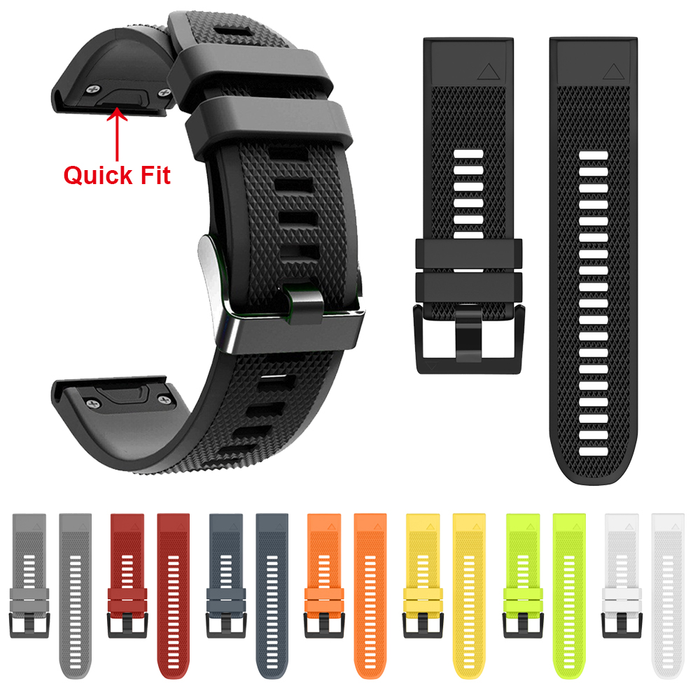 Band For Garmin Fenix 5 Plus 22mm Quick Release Silicone Wrist Strap For Garmin Fenix5 Instinct Forerunner 945 935 Watchband