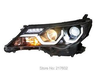 for Toyota RAV4 Angel Eye Head lights 2013 year V1 with Daytime light New Design