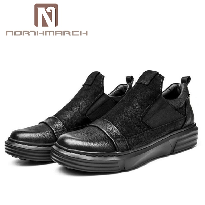 NORTHMARCH New Arrival Breathable Top Quality Casual Shoes Mens Leather Shoes Slip On Men Loafer Herenschoenen Loafers 2017 new spring imported leather men s shoes white eather shoes breathable sneaker fashion men casual shoes