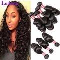 Brazilian Loose Wave Virgin Hair 4 Bundles Brazilian Virgin Hair Loose Wave Bundles Human Hair Weave Bundles Deal Bounce Curl