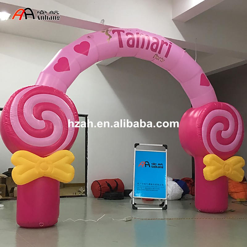 Advertising Inflatable Candy Arch for Children Birthday Party inflatable cartoon customized advertising giant christmas inflatable santa claus for christmas outdoor decoration