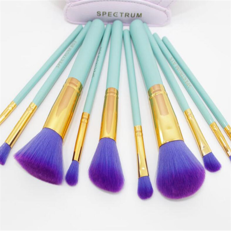 10pcs/Sets Europe and the United States selling Cosmetic brush artificial fiber makeup brush brush beauty tools wholesale 7pcs sets new europe and the united states selling liquid flash makeup brush set flow flash unicorn makeup brush fantasy mermaid