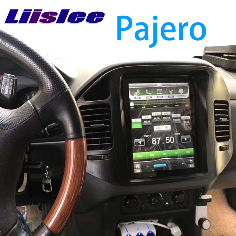 LiisLee coche Multimedia DVD GPS de Audio de alta fidelidad, Radio estéreo para Mitsubishi Pajero V60 V73 1999 ~ 2006 Original estilo de navegación NAVI