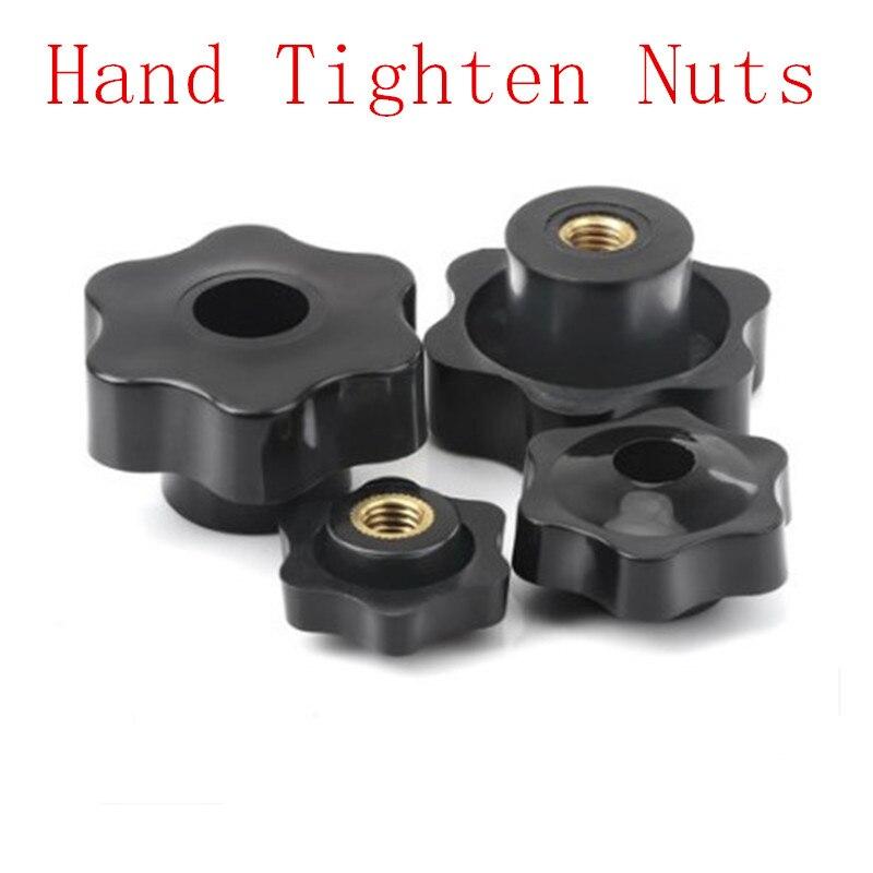 Rivet Nut Kit,M3 M4 M5 M6 M8 M10 Nickel Plated Carbon Steel Hand Tighten Knurled Thumb Nuts M8(2pcs)