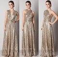 Custom made maid of honor vestidos para casamento 2017 sparkly conversível rosa da dama de honra de lantejoulas de ouro vestido sem costas longo plus size