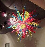 China LED Pendant Lamps Modern Decorative Lighting Tiffany Colored Glass Modern Pendant Lighting