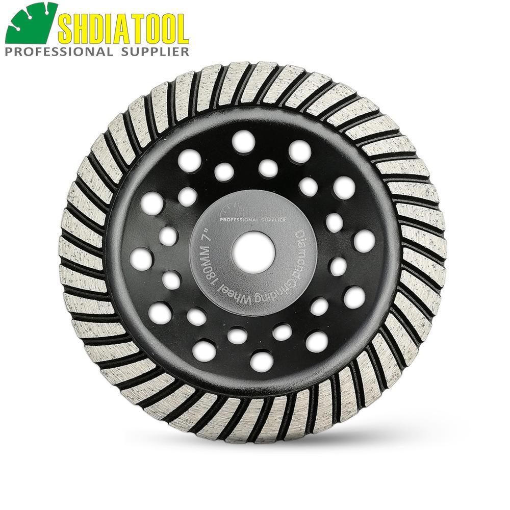 SHDIATOOL 180mm Diamond Turbo Row Cup Wheel For Concrete Masonry Diameter 7 Inch Bore 22 23mm