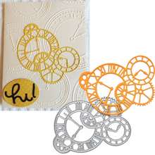 Gears Clock Frame Cutting Dies Stencil For DIY Scrapbooking Album Paper Birthday Card Photo Decorative scrapbooking diy 50
