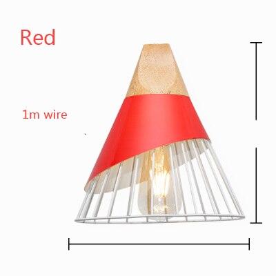 US $20.71 17% OFF|Nowoczesne drewniane lampy wiszące Lamparas kolorowe żelazne klosz do lampy oprawa jadalnia lampa wisząca do oświetlenia