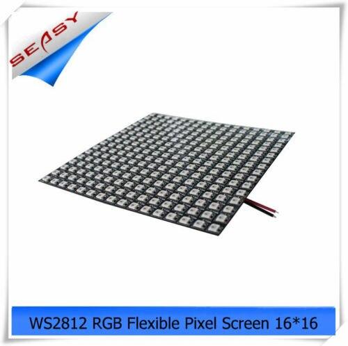 16*16 256 LED s WS2812 LED écran de Pixel Flexible, DC 5 V rvb polychrome SMD WS2811 contrôle intégré pour la publicité