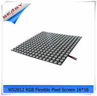 16*16 256LEDs WS2812 LED Flexible Pixel Screen,DC 5V RGB full color SMD WS2811 Built in control For Advertisement