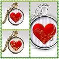 Handmade coração colares e pingentes de jóias presente dia dos namorados