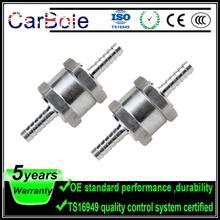 Non-Return Check-Valve Fuel Carbole 2x1/4--Inch 6mm Aluminium Inline Petrol Silver One-Way