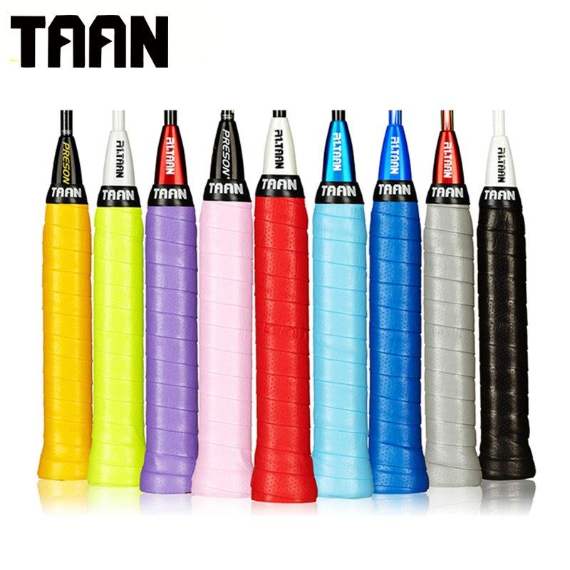 TAAN 30pcs lot Tacky 0 75mm Perforate Overgrip Sweatband PU for Tennis Badminton Racket Grip Viscous