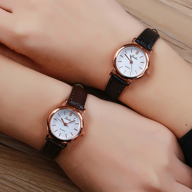 Luobos Small Dial Hot Sale Women Watch Fashion Leather Quartz Watches Ladies Simple Style Wristwatch Relogio Feminino Clock 2017 mance hot sale 8 color fashion design women dress watches quartz watch skull watch ladies men sport watch relogio feminino