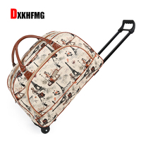 2018 Fashion Women Trolley Luggage Rolling Suitcase Brand Casual Stripes Rolling Case Travel Bag on Wheels Luggage Suitcase Big