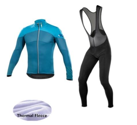 2019 New Mavic Winter thermal fleece Cycling Clothes NW men's Jersey suit outdoor riding bike MTB clothing warm Bib Pants set