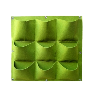 Image 1 - 垂直ガーデンプランター、壁植樹バッグハンガー屋外屋内野菜花成長容器ポット (9ポケット