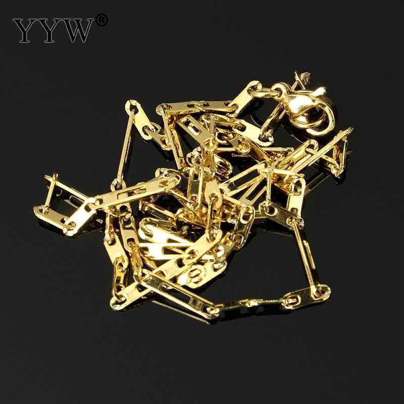Moda z najwyższej półki 19 Cal złoty kolorowy platerowany stal nierdzewna stalowy łańcuch moda Figaro naszyjnik ze stali nierdzewnej łańcuch dla kobiet mężczyzn