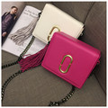 2017 New Arrival Limited Interior Compartment Hard Women Chain Shoulder Bag Clutch Pu Hand Leather Messenger Mobile Phone Purse